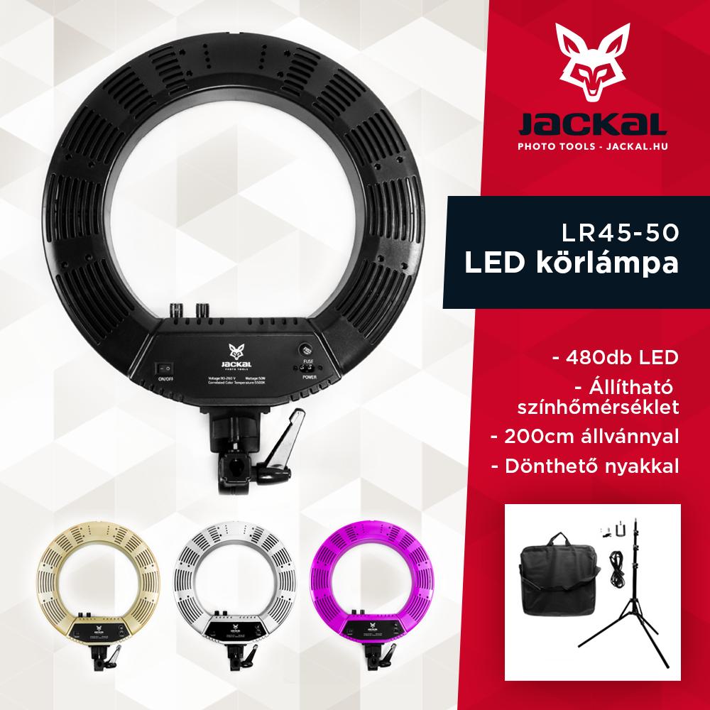 Jackal LR45-50 lampa circulară LED Ring Light