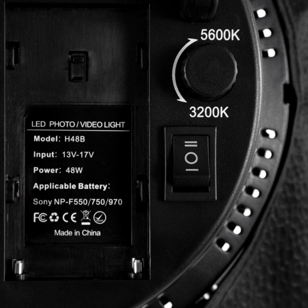 Kit Softbox 48W LED 3200-5600K cu stativ 2m si slot pt acumulator NP-F