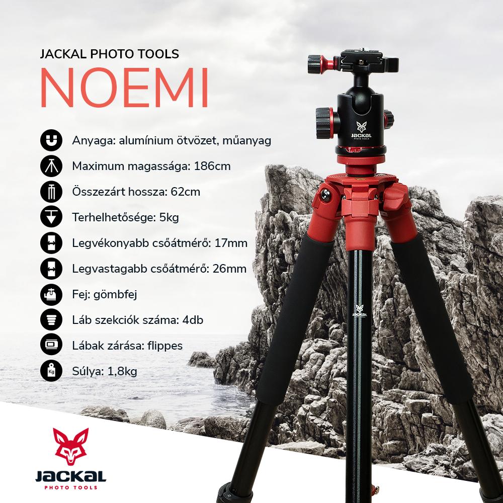 Jackal Noemi trepied foto cu cap tip bila (186cm)
