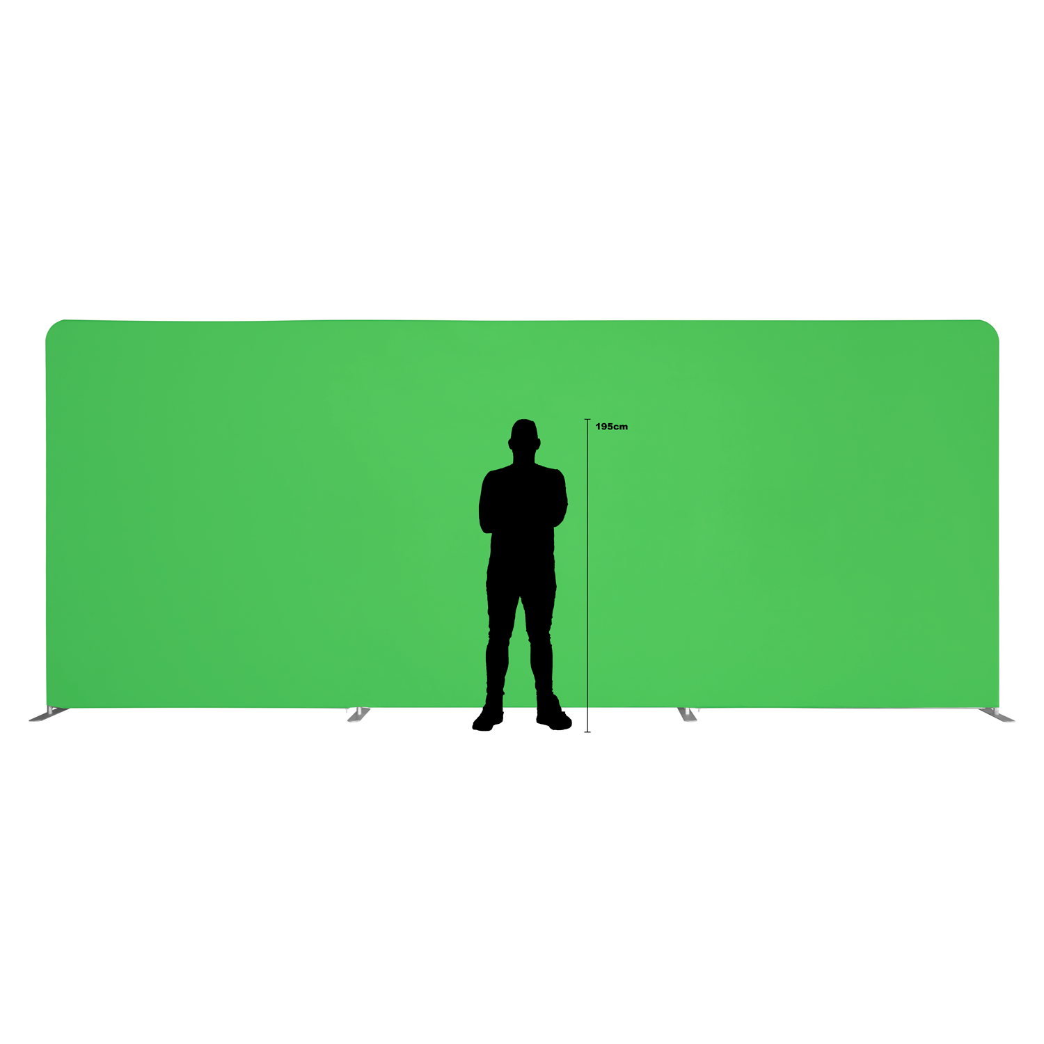 Fundal Chroma Key, Green Screen, 2.5x6m verde
