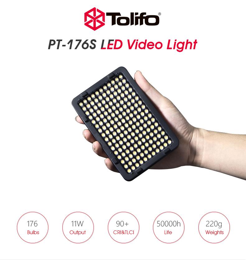 Tolifo PT-176S Lampa foto-video LED 5500K