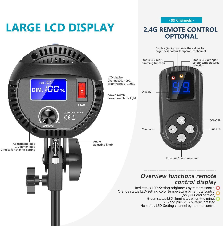 Tolifo MT-60S 60W COB lampa LED cu telecomanda si stativ 2m