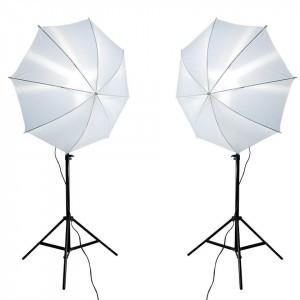 Kit lumini 2x135W cu stative si umbrele