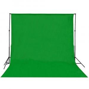 Fundal studio 6x3m verde, cu stativ aluminiu 2x3m