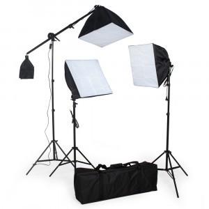 Kit Softbox 3x135W,cu stativ 2x2m,1x3 m