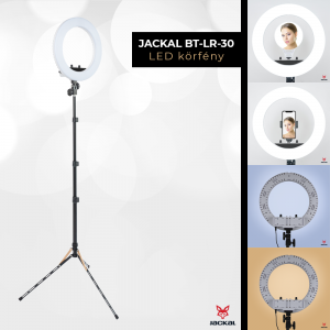 Jackal BT-LR-12 30cm lampa circulara LED Ring Light cu stativ si oglinda