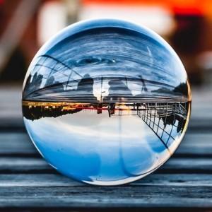 Sfera din cristal 6cm pentru fotografii