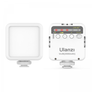 Ulanzi VL49 lampa video 5500K,acumulator incorporat,WHITE