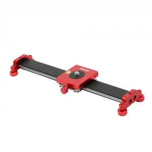 Slider aluminiu SuteFoto 30 cm negru-rosu
