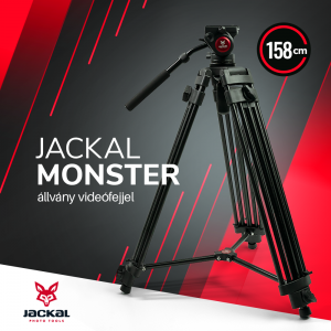 Jackal Monster trepied foto-video cu cap fluid (158cm)